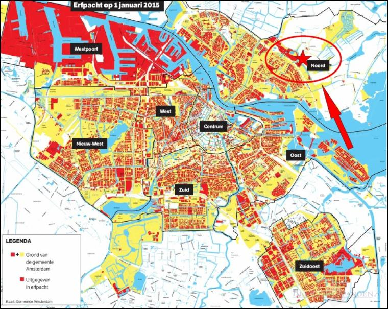 Amsterdam, Grondpositie
