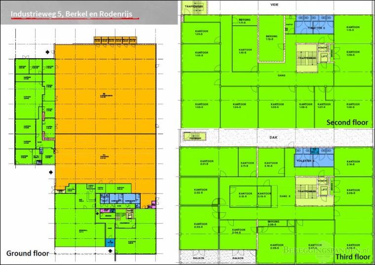 Berkel en Rodenrijs, Industrieweg 5, 5a en 5c
