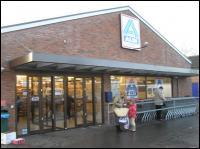 Voorkant supermarkt