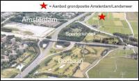 Overzichtskaart propositie t.o.v. Golfbaan Sportdriehoek en Amsterdam.